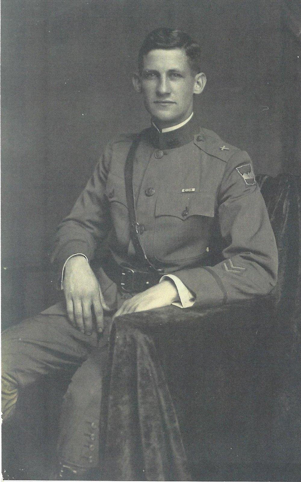 Lieutenant Arthur Brown, Chaplain circa 1918