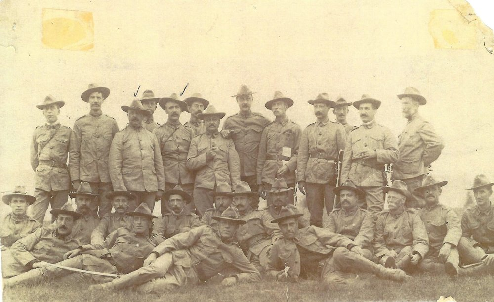 Officers & men of Company E 1898