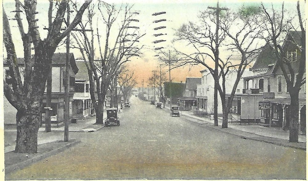 The village of Leonia from Grand Avenue 1895 (Althea Eames Oliver Postcard Collection)