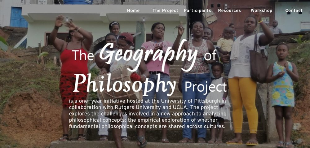 This is a prior, one year initiative and the precursor to the present Geography of Philosophy Project