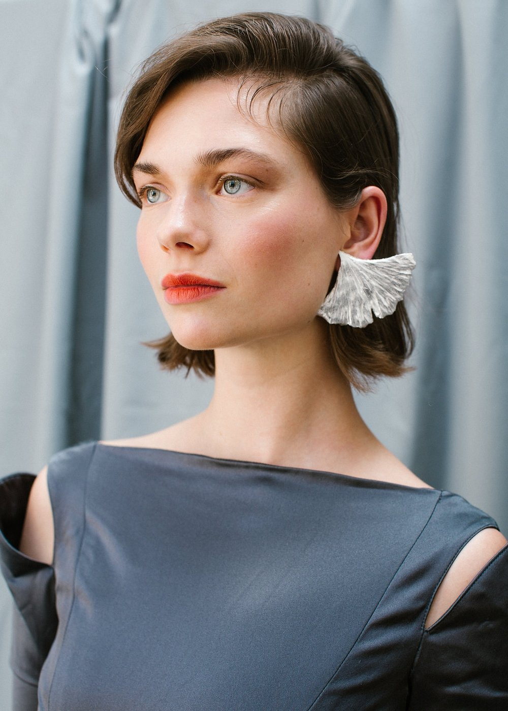 The Eljin earring handmade Sterling Silver earrings by Naturae Design.