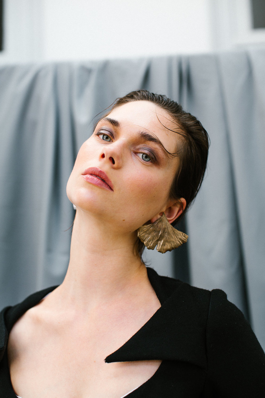 The Eljin earring handmade Sterling Silver earrings by Naturae Design.