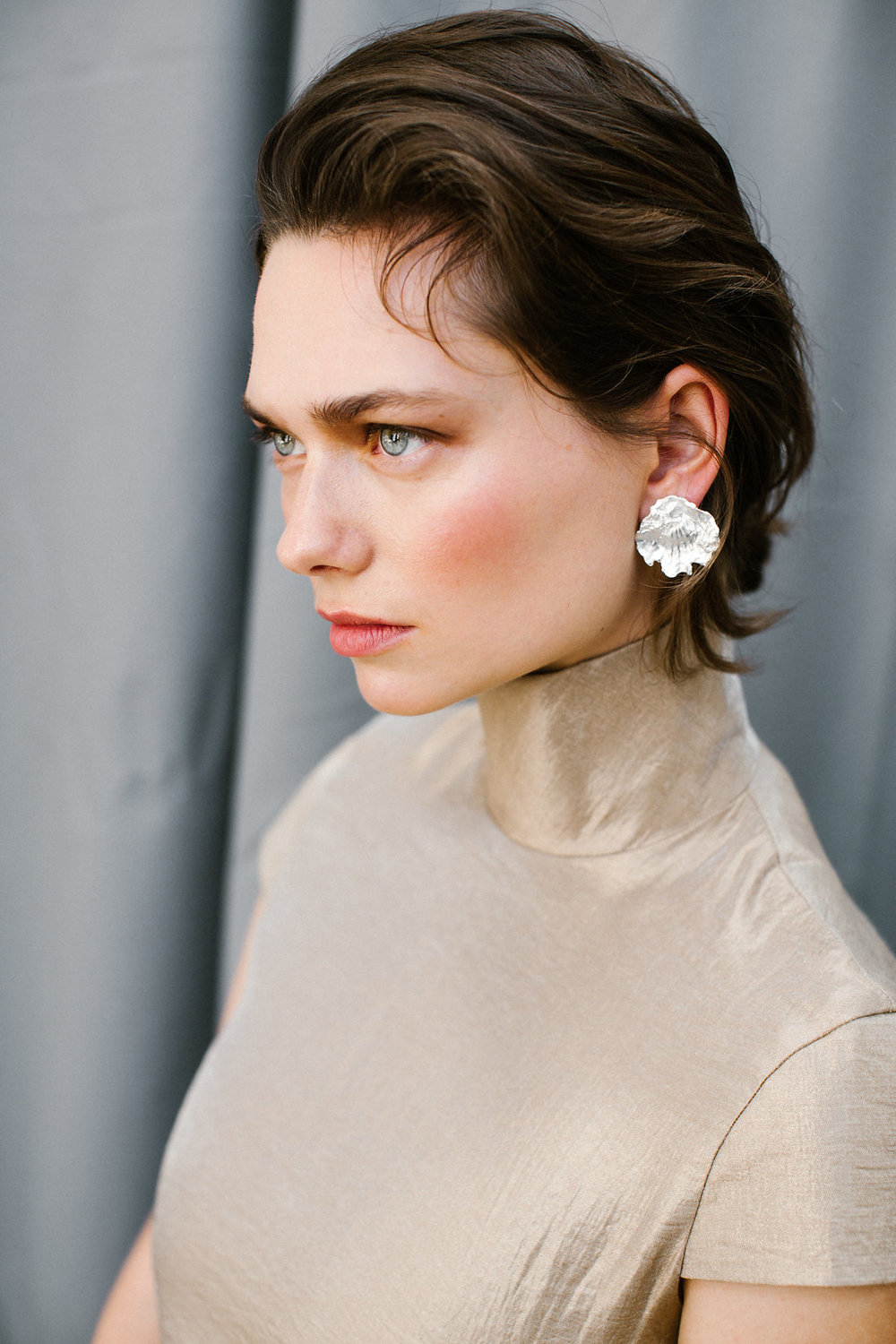 The Cardea earring handmade Sterling Silver earrings by Naturae Design.
