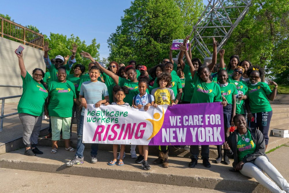 WE CARE FOR NEW YORK - Healthcare Workers Rising is a growing movement of healthcare workers in Western NY coming together to improve our profession and our communities!