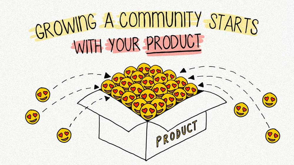 Growing a community starts with your product