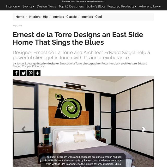 I've been waiting a long time for these images to show up. And, what a welcome visual surprise while reading the New York Spaces online newsletter today. Seems like my record lamps have found a good home on the Upper East Side. Thank you Ernest de la Torre!  @delatorredesign  @nyspacesmag