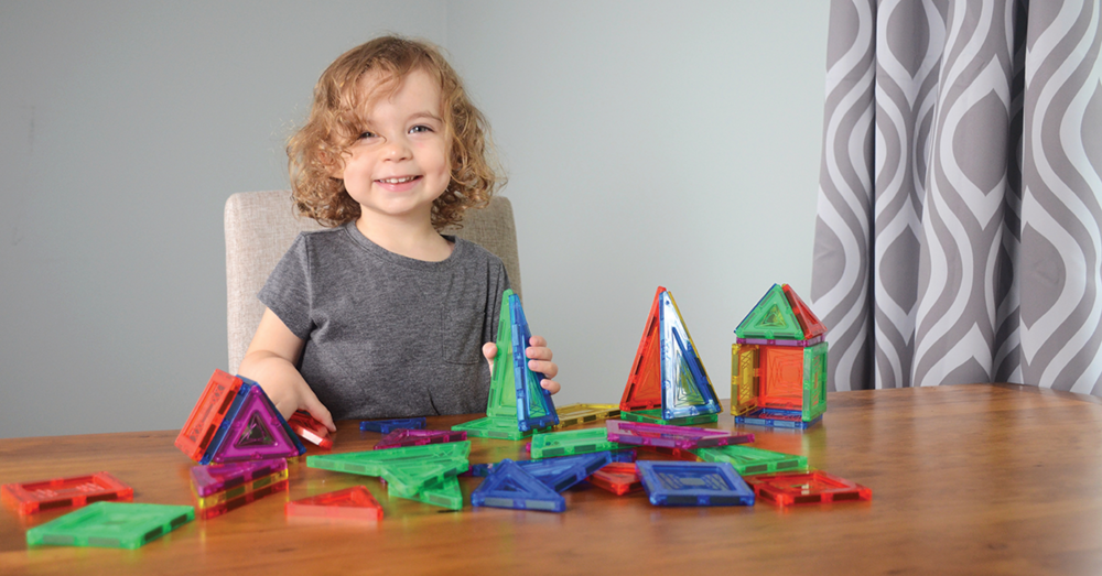 Magna-Tiles  are one of our most popular construction toys. Kids will learn basic shapes while they create in 2D or 3D.