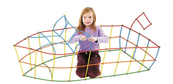 With  Straws and Connectors  kids can go big! The flexible straws and simple connectors can be attached to form any kind of structure the builder desires!