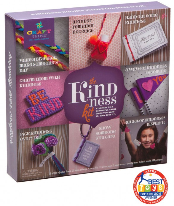 Craft boxes like Craft-tastic's  Kindness Kit  are a great way to begin introducing the gift of kindness to young children.