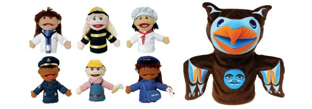 Puppets  are always a great idea, and we have hundreds!