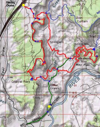 West Rim Trail in Utah