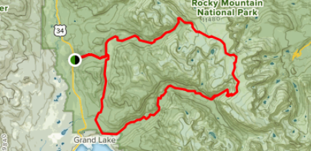 Map of continental divide Trail - Rocky mountain national park