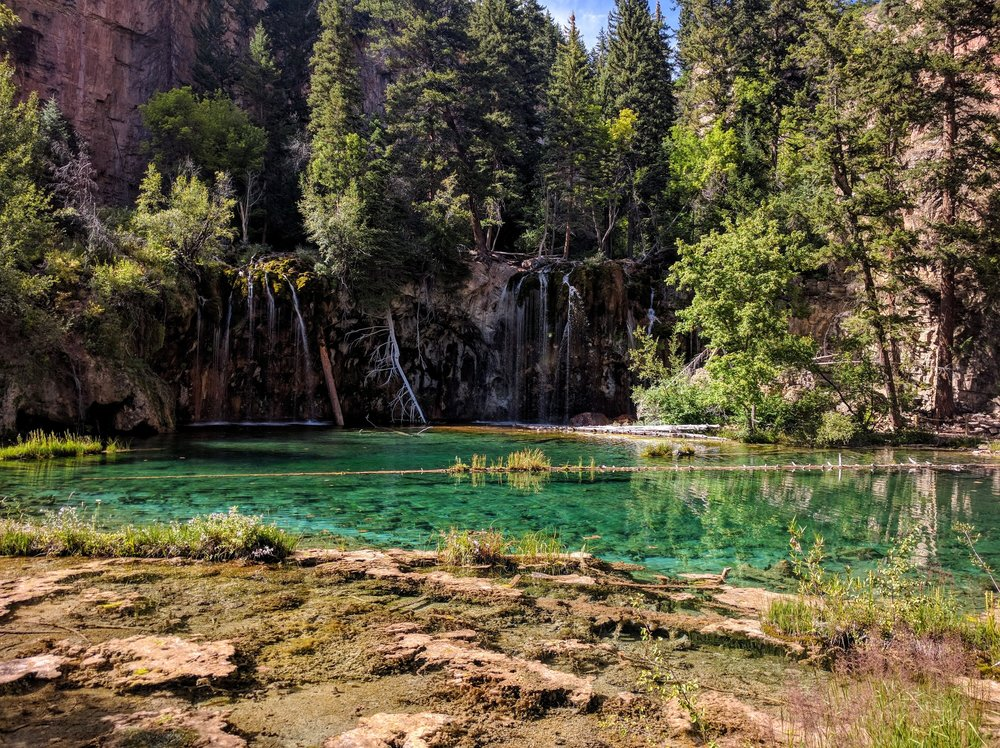 hanging lake is one of the most beautiful and best hiking trails in colorado