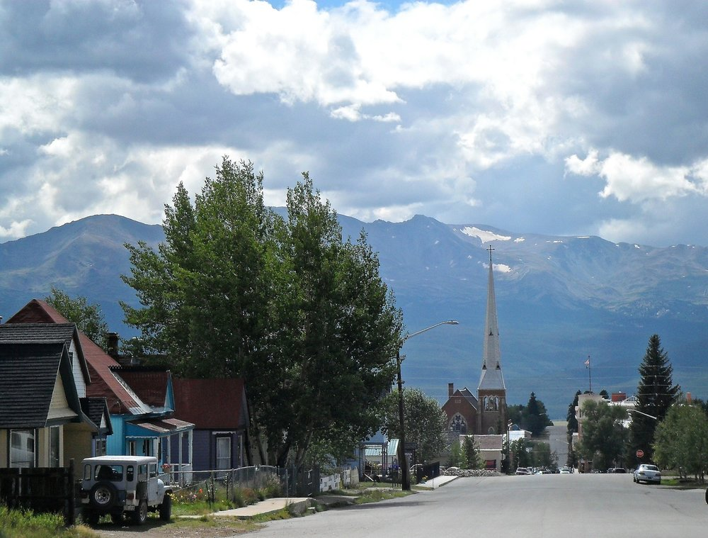 mount elbert is located right outside of the town of leadville