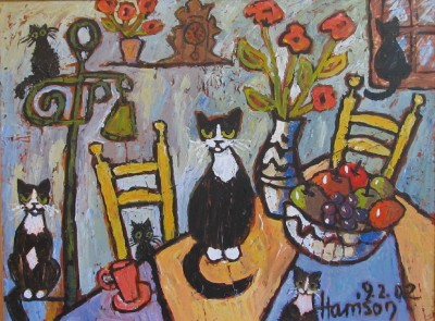 Cats in the Kitchen *SOLD