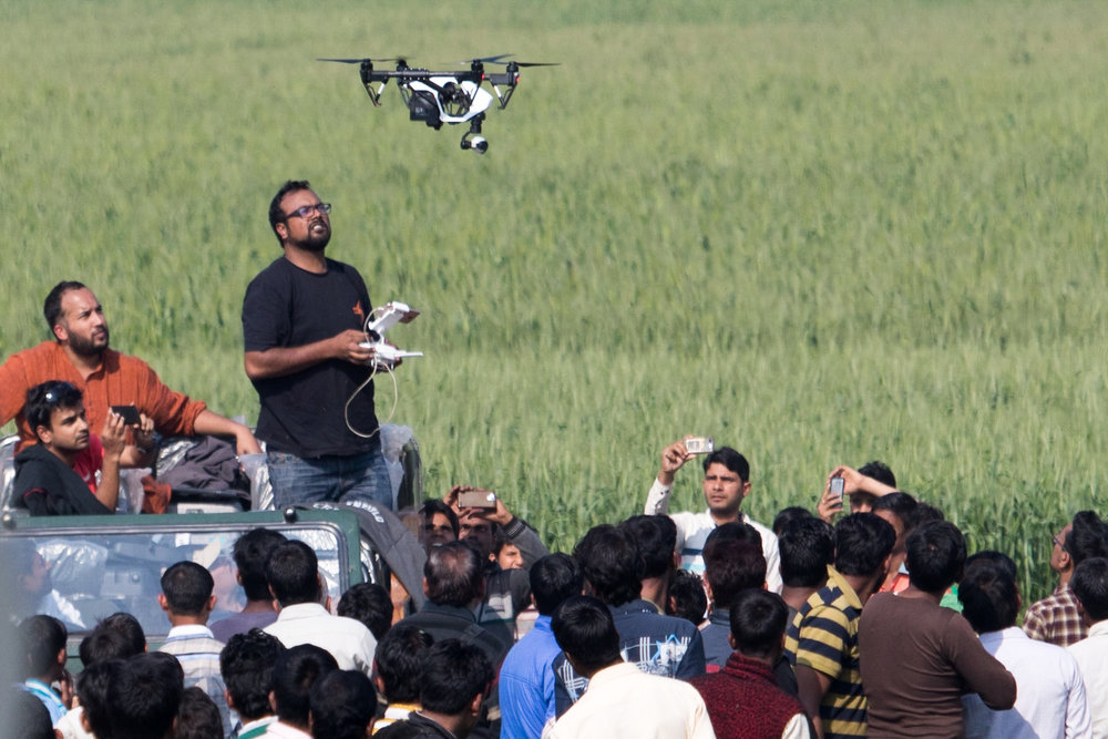 Launching the DJI Inspire 1