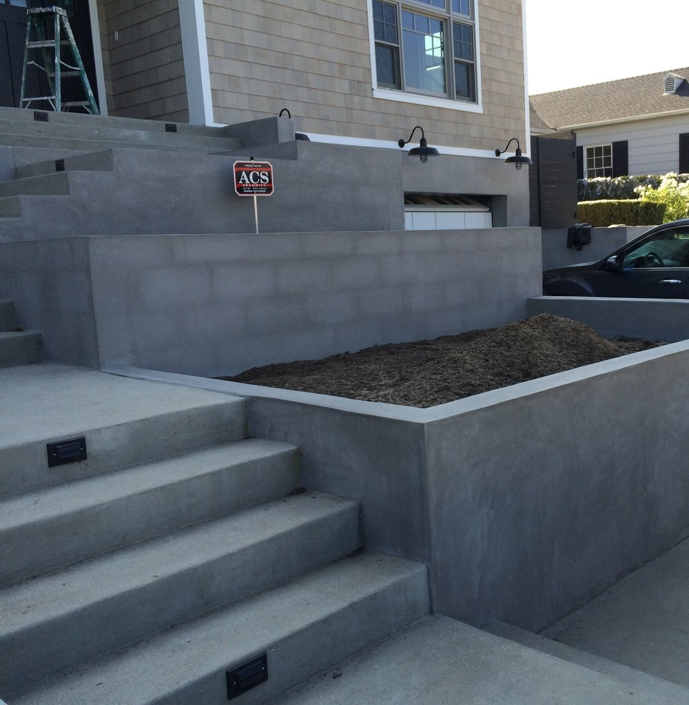 raised beds concrete