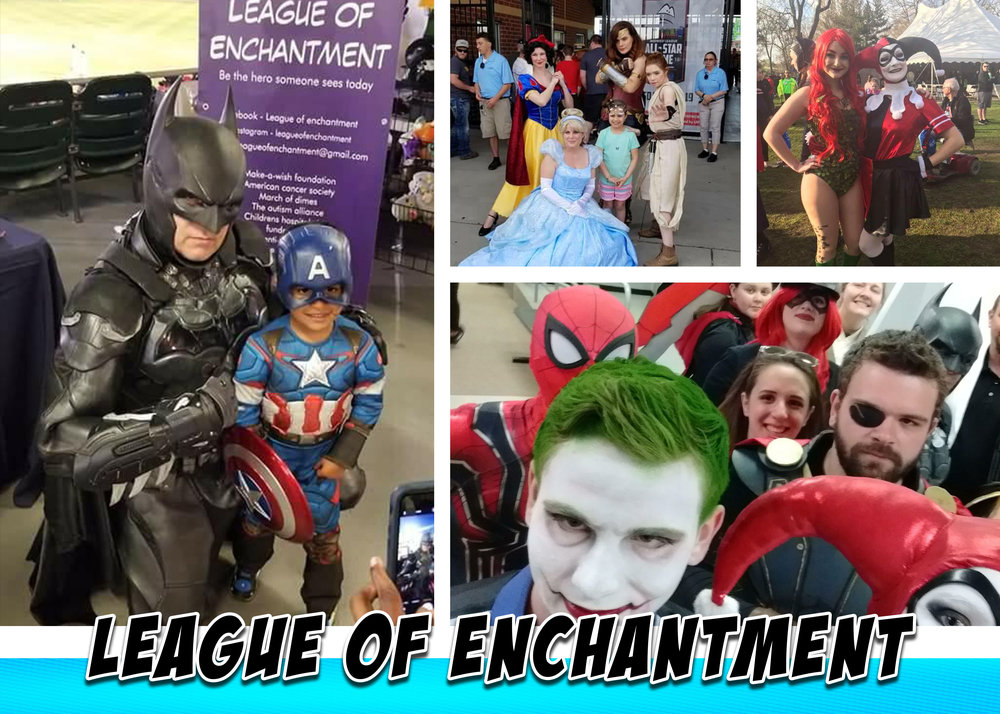 League of Enchantment Cosplay - Both Super Hero's, Villains, and Princesses will be at #RC3 con this Summer. The League of Enchantment group will be on site having fun and doing what they do best! The league was born of the desire to make kids happy and adults smile. They  have been guests at comic conventions, hospitals, community outreach, have participated and worked with a variety of groups including Make-a-wish and The American Cancer. Please check them out at the link below and remember to bring your camera!! https://www.facebook.com/LeagueOfEnchantment