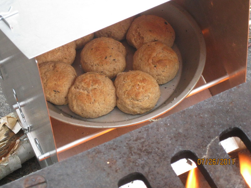 Making Rolls in Old Scout Reflector Oven