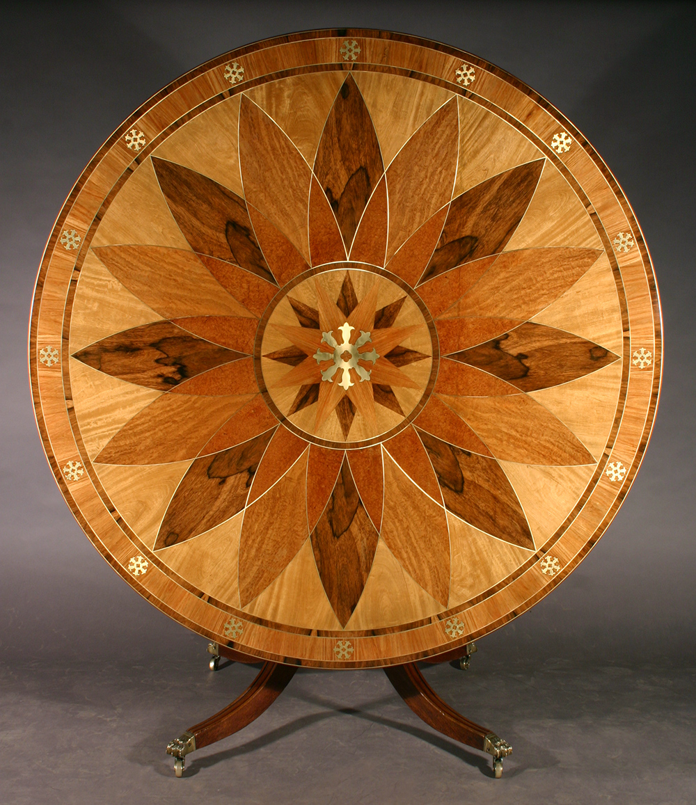 Treatment Of A Regency Style Marquetry Table