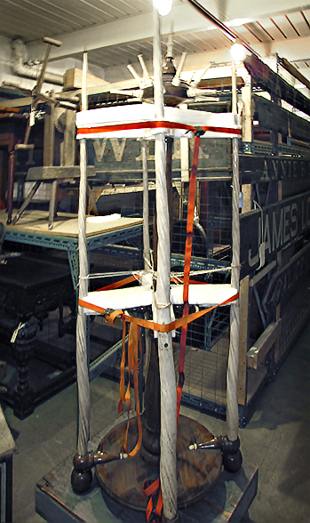 Fig. 3  | Preparing for transport using Ethafoam beams for support. Photo by RSW Fallon & Wilkinson, LLC.