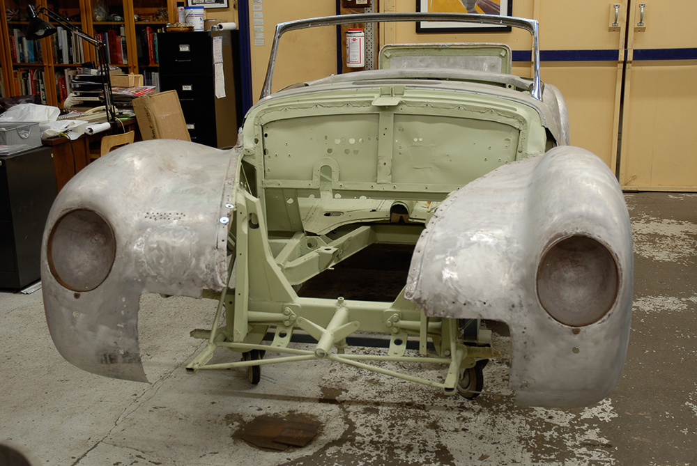 Photo:  1943 Alfa Romeo 6C 2500 arrives at Cooper Technica in Chicago. Photo courtesy of David Cooper.