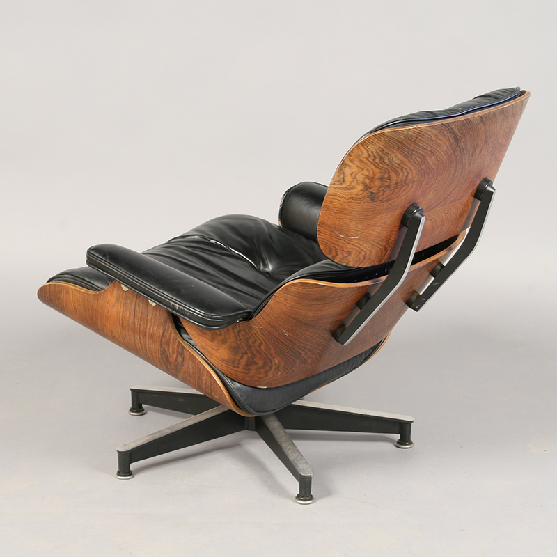 Eames Lounge Chair as seen before conservation