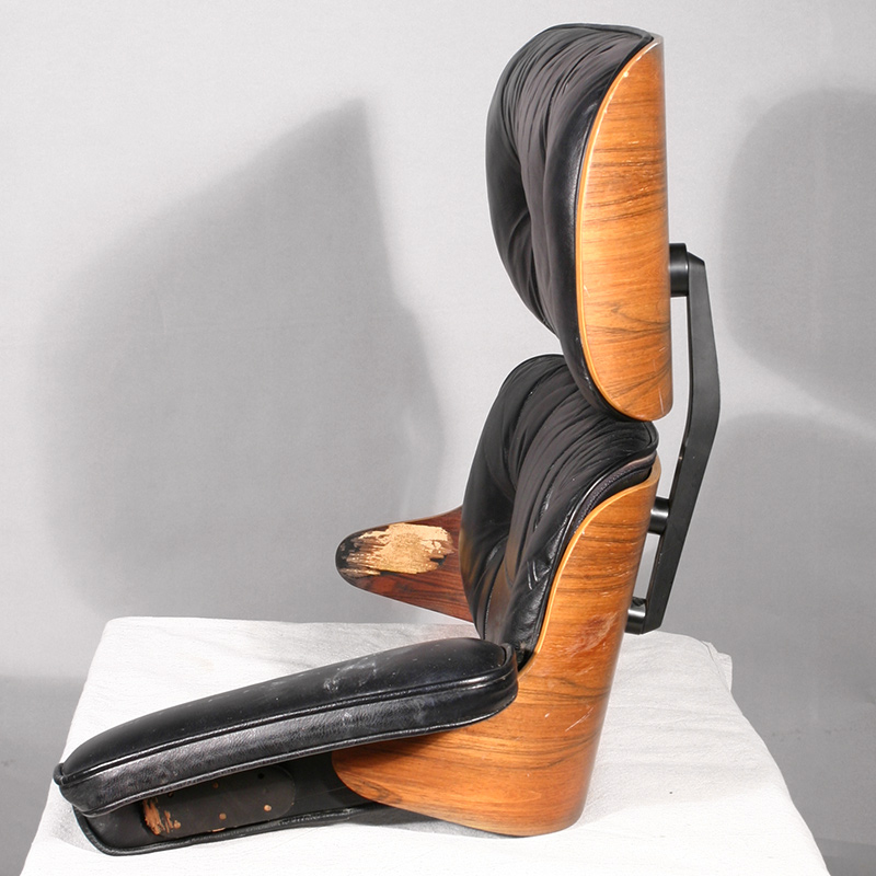 Damaged Eames lounge chair