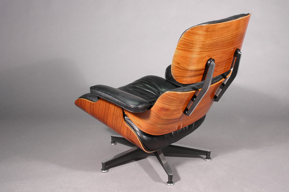 Eames Lounge Chair restored at Bernacki & Associates, Inc.