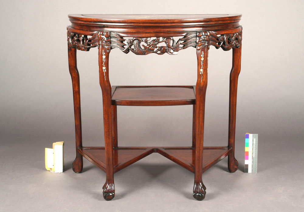 Chinese Rosewood Mother-of-Pearl Inlay Console Table - front view