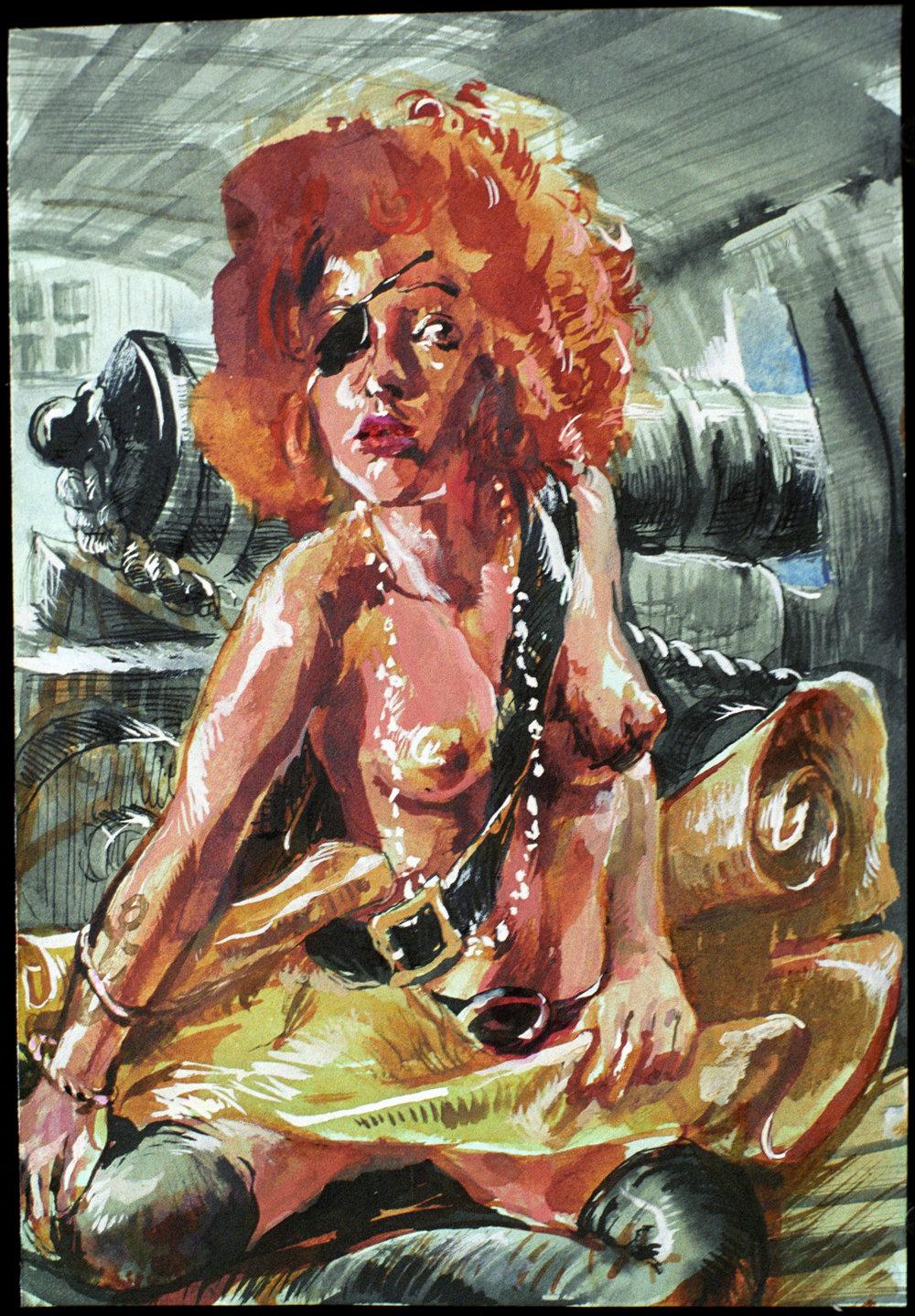 Stowaway   2015, 30 x 22 watercolor