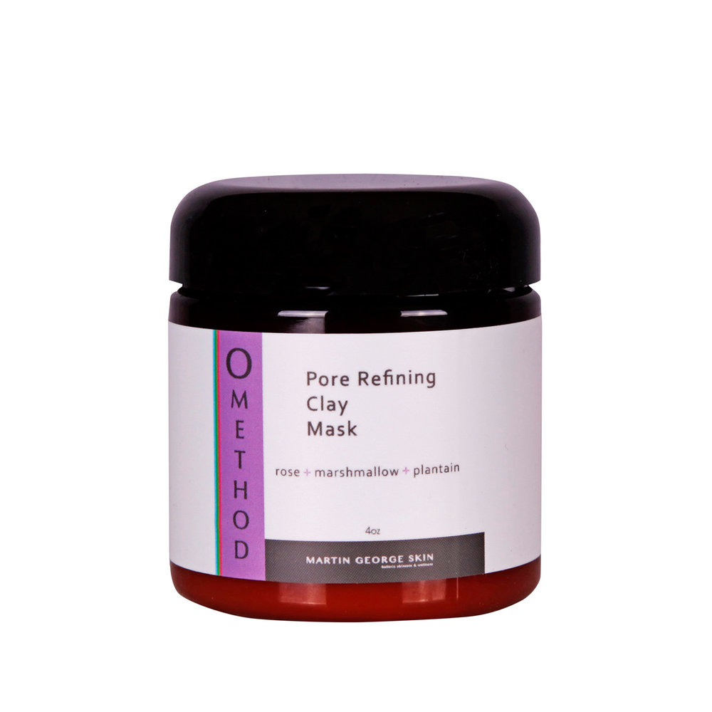 Pore Refining Clay Mask - Any skin type benefits from a weekly masking with Pore Refining Clay Mask. This product addresses individual needs regardless of specific issues, ie – hyperpigmentation, pore minimizing, extracting impurities, acne, skin congestion, inflammation, and increasing the cell cycle to promote healthier functioning, youthful, smooth textured skin. Encouraging healthy, vibrant skin by exfoliating the upper layers of the tissue to encourage the under laying cells regeneration in their natural cycle.It is ideal to follow this mask with the Nourishing Gel Mask or Restoring Cream Mask, as the Clay Mask preps the skin for optimal absorbtion.