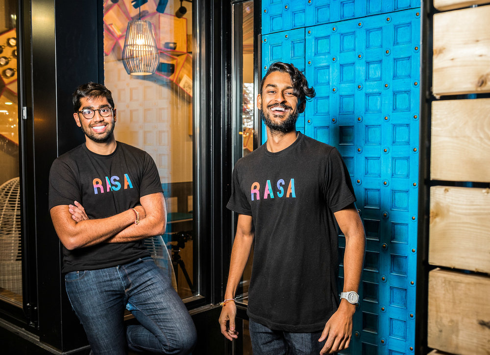RASA Co Founders Rahul Vinod and Sahil Rahman. (Photo by Rey Lopez)