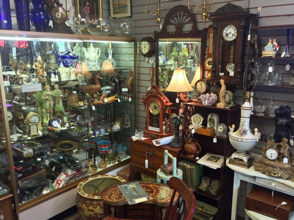 T'S TREASURES   Bob Taylor of T's Treasures has been a collector for years, and in the antiques business since 1992. T's Treasures is located on the 1st floor of The Summit Antiques Center, and specializes in clocks, pocket watches and general antiques.