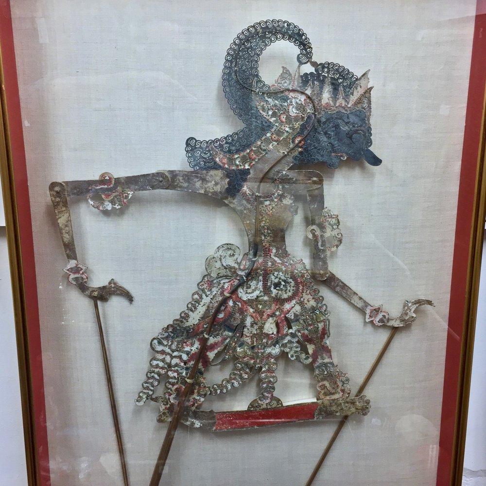 Wayang Kulit Shadow Puppet, Indonesia, framed