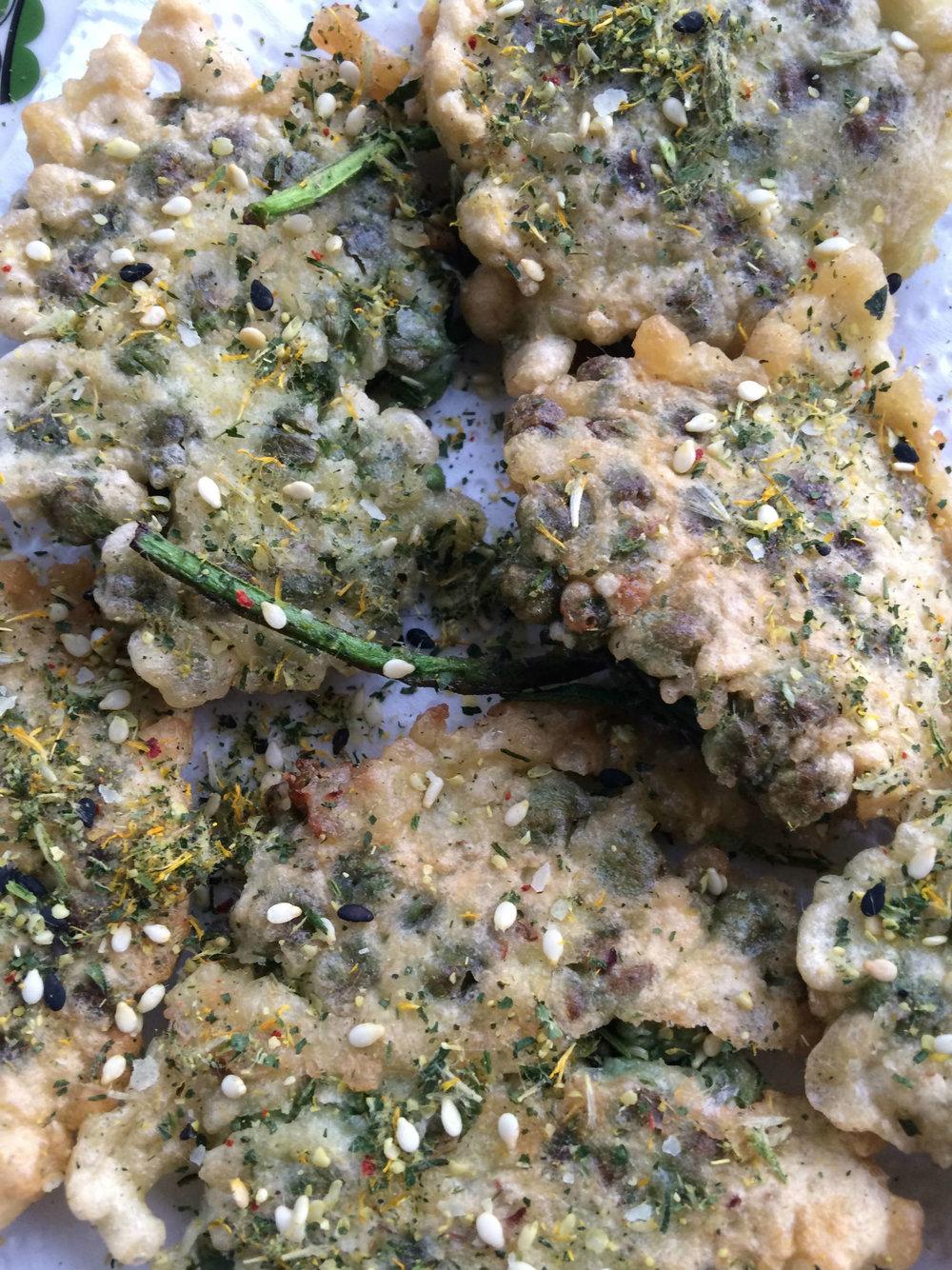 wild edibles: milkweed fritter
