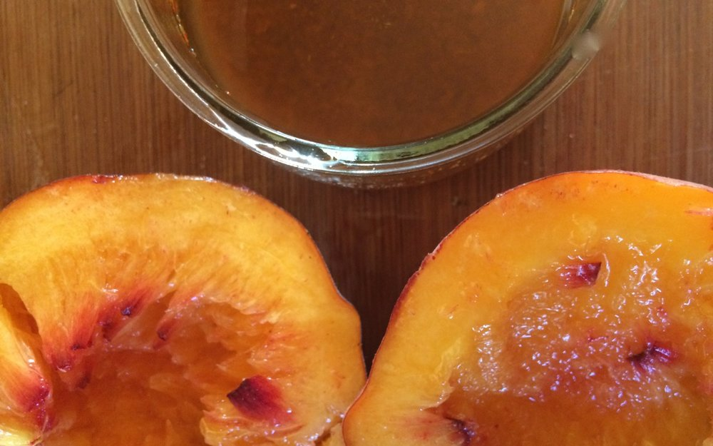 cumin + aleppo pepper on grilled peaches | a raisin + a porpoise