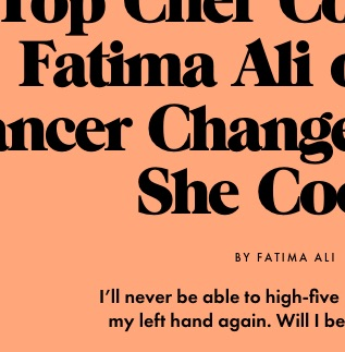 How Cancer Changed The Way She Cooks
