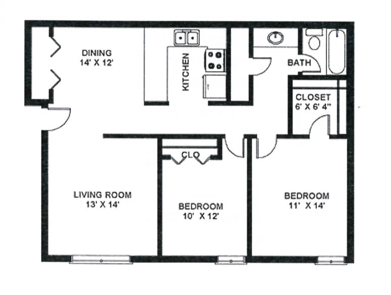 2x1 (925 sq. ft.)