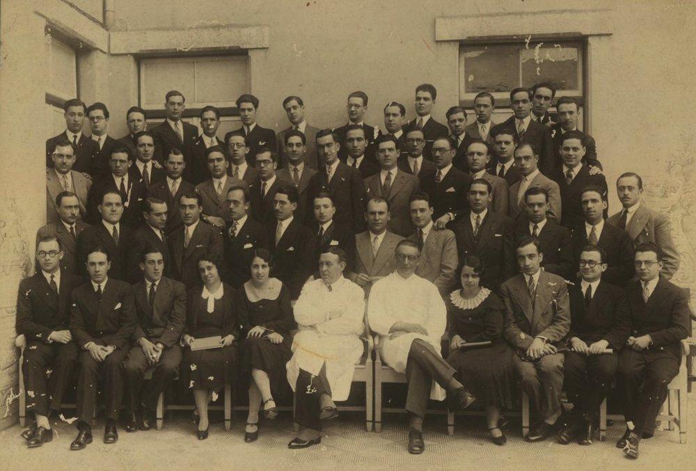 Egas Moniz com o curso de 1931