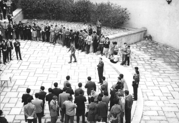 Estudantes reunidos na FMUL