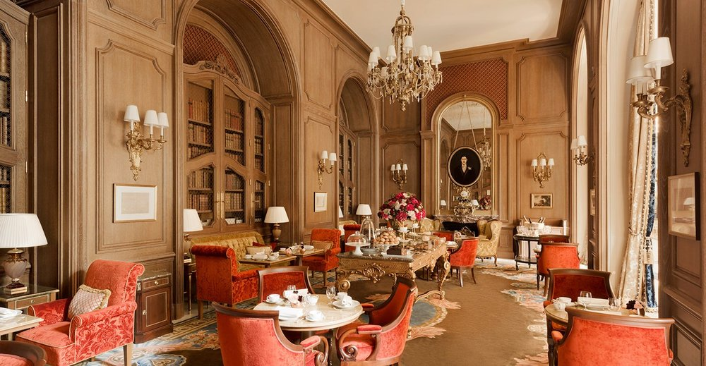 The Ritz's decadent design.