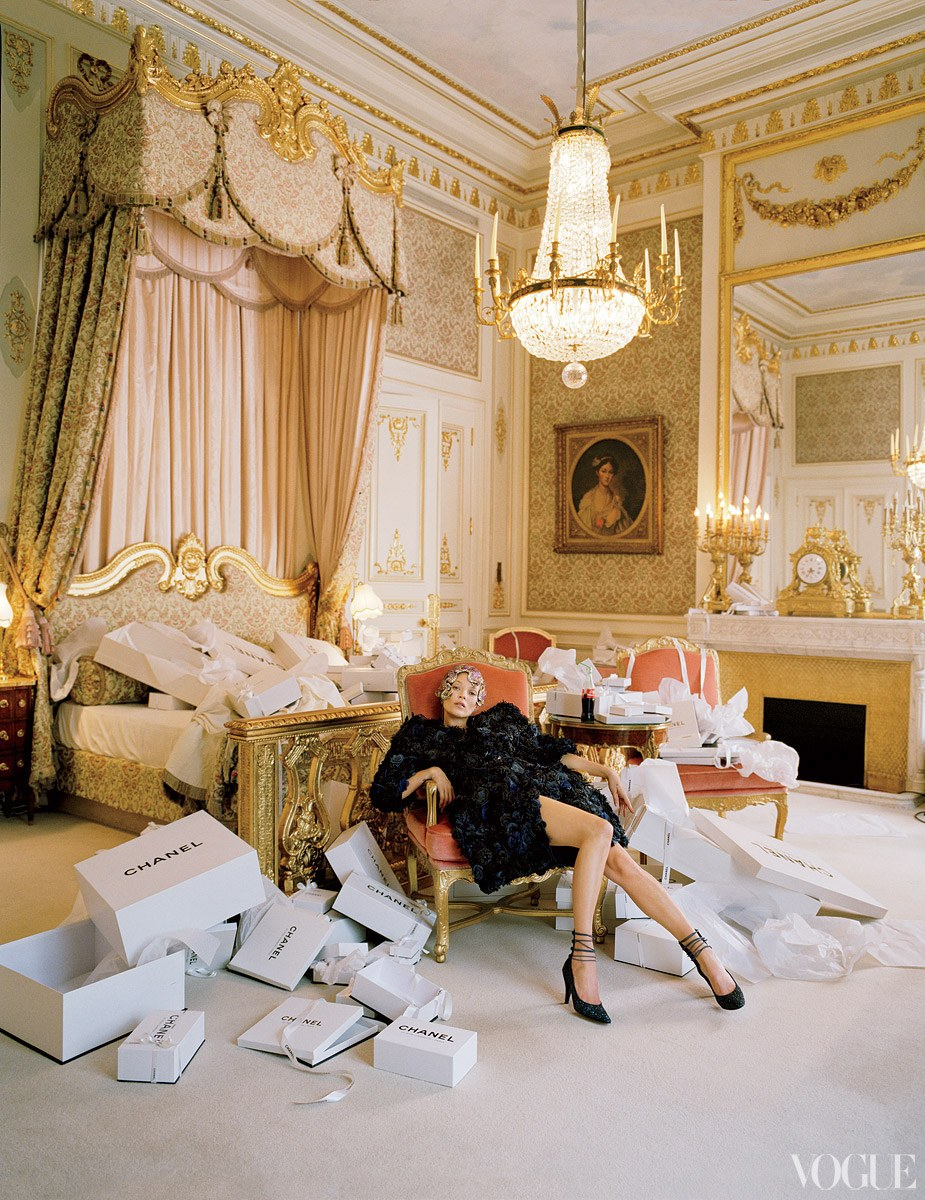 Vogue's iconic photo shoot at the Ritz.