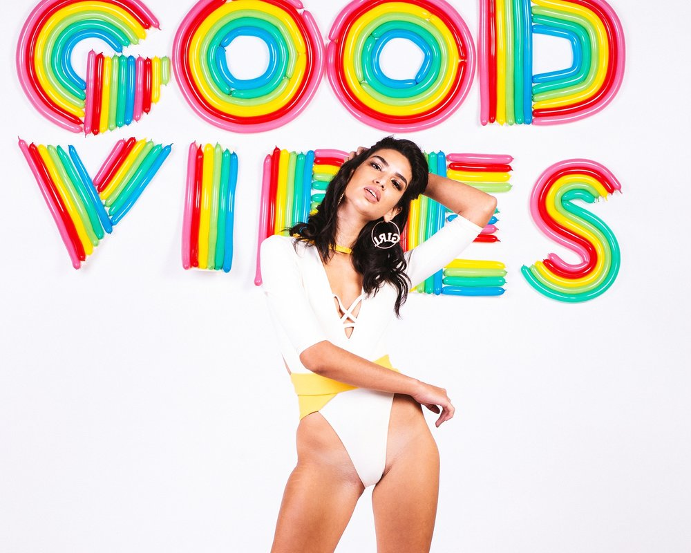 GOOD VIBES are BANDITS AF Xx. - This Collection brings you retro desert glam vibes with our signature Bandits KICK. Ribbed spandex, striped mesh, and luscious metallics all custom milled for us with love from Italy in groovy colors you can't resist...