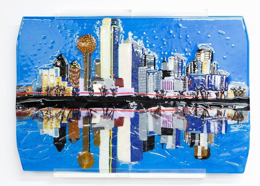 Dallas Skyline  Anna Lou Glass