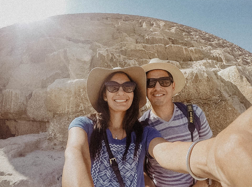 Here we are hanging out on the pyramid. Thanks to the good ol' GoPro for this shot.   -