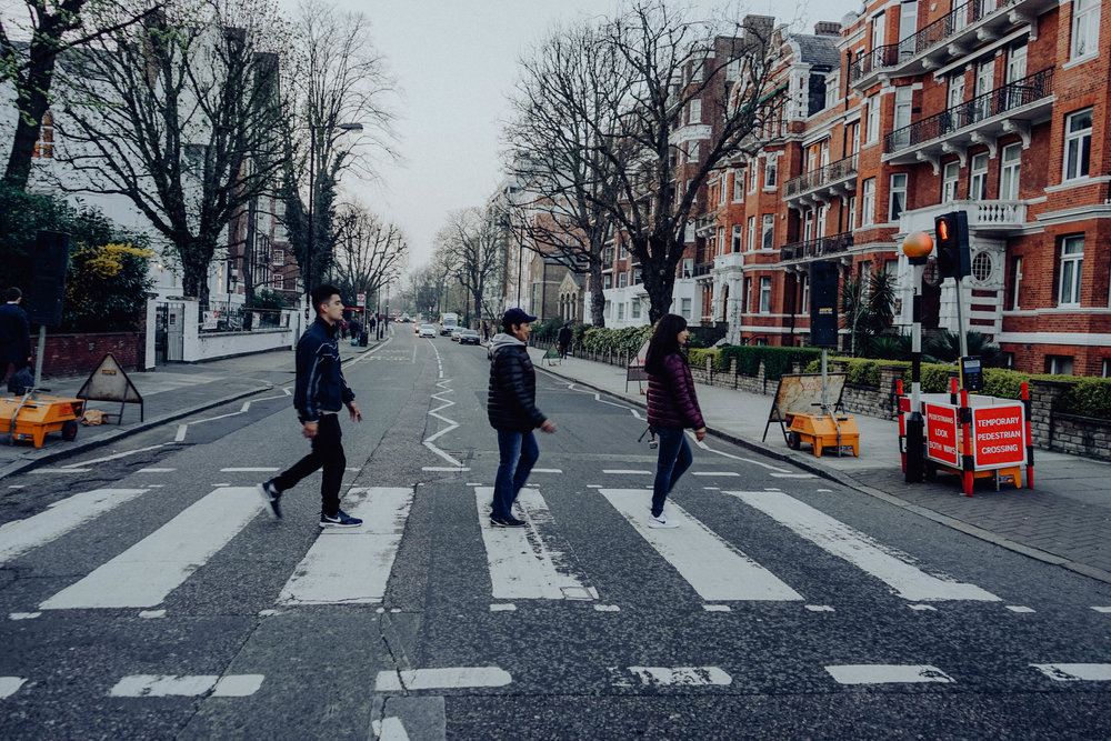 Abbey Road - If your a Beatles fan walking down abbey road is a must. It took many attempts to get this picture and lets just say you could hear a lot of honking while we were trying lol