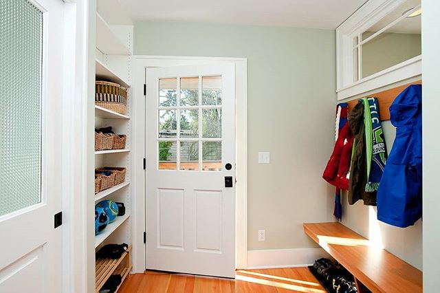 Mudroom entry at a ballard remodel addition project of ours. Great place to organize all the shoes and coats we need in the PNW! . . . #remodel #seattle #seattleremodel #seattlebuilder #seattleremodeler #crescentbuildseattle #love #addition #architecture #greatdesign #cbseattle #craftsman #interiordesign #design #mudroom #entry #pnw