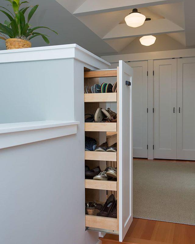 Custom shoe storage in a ballard master suite attic addition we competed a few years ago! Desiged and built to every inch! . . . #details #interiordesign #interiortrim #ballard #seattle #seattleremodel #craftsman #builtwithhands #carpenterlife #carpentry #pnw #addition #architecture #greatdesign #cbseattle #crescentbuildseattle #designer #custom #shoes #mastersuite