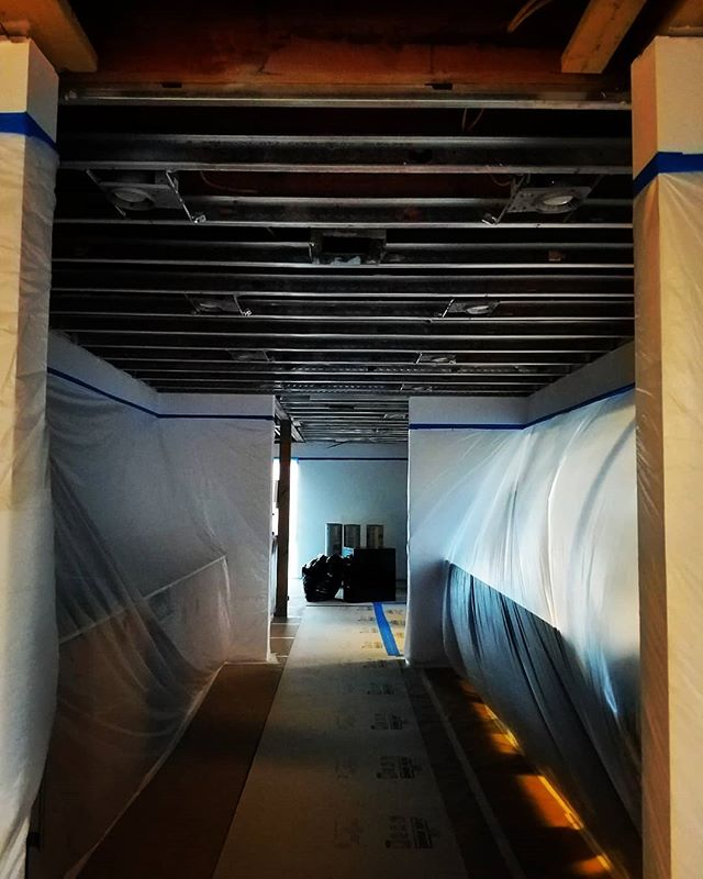 Phase 2 of our office remodel project is underway including, fire sprinklers so we can finally insulate and cover our ceiling! . . #remodel #seattle #crescentbuildseattle #lovetobuild #builder #remodeler #generalcontractor #commercialti  #remodelinginphases #remodelinginprogress #construction #carpenter
